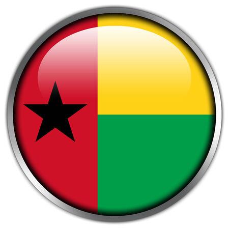 guinea bissau: Guinea Bissau Flag glossy button