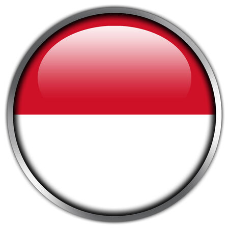 Indonesia Flag glossy button photo