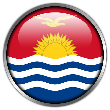 kiribati: Kiribati Flag glossy button