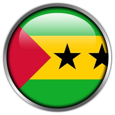 principe: Botón brillante de Santo Tomé y Príncipe Bandera