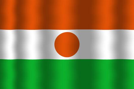 niger: Waving Niger Flag
