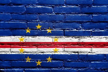 cape verde: Cape Verde Flag painted on brick wall