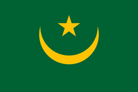 mauritania: Mauritania Flag Stock Photo