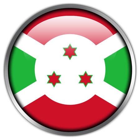 burundi: Burundi Flag glossy button