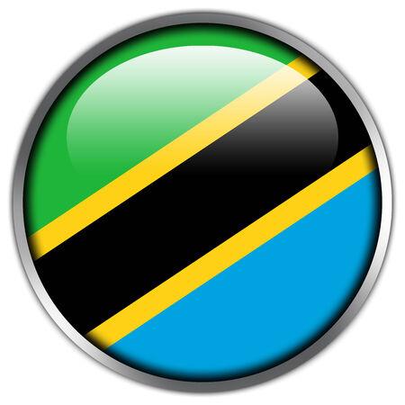 Tanzania Flag glossy button photo