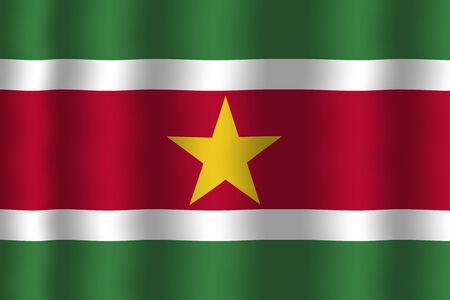 suriname: Zwaaien Suriname Vlag