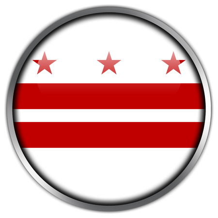Washington DC Flag glossy button photo