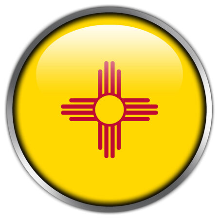 New Mexico State Flag glossy button photo