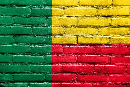 benin: Benin Flag painted on brick wall