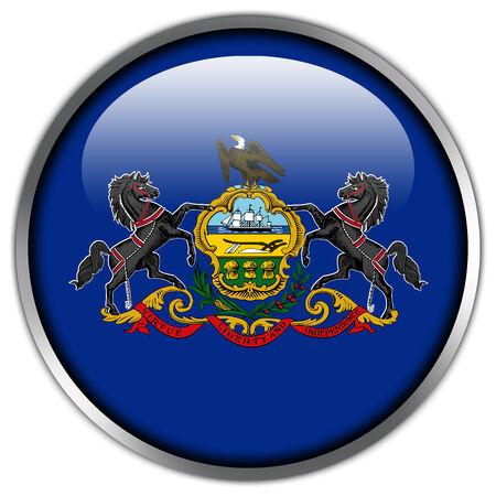 pennsylvania: Pennsylvania State Flag glossy button