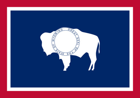 u.s. flag: Wyoming State Flag