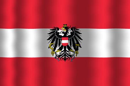 Waving Austria Flag photo
