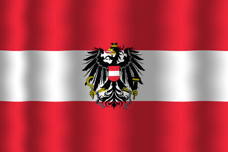 Waving Flag Austria photo
