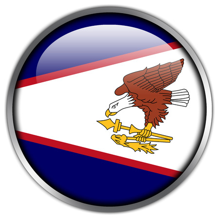samoa: American Samoa Flag glossy button