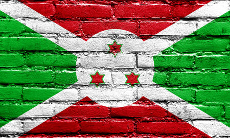 burundi: Burundi Flag painted on brick wall