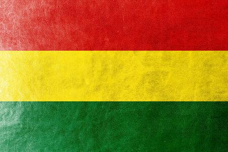 bandera de bolivia: Bolivia bandera pintada en textura de cuero