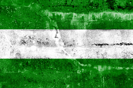 Rotterdam City Flag painted on grunge wall photo