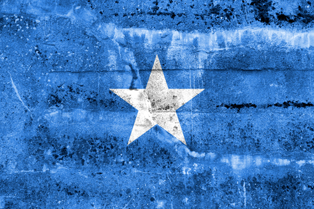 Somalia Flag painted on grunge wall Stock Photo