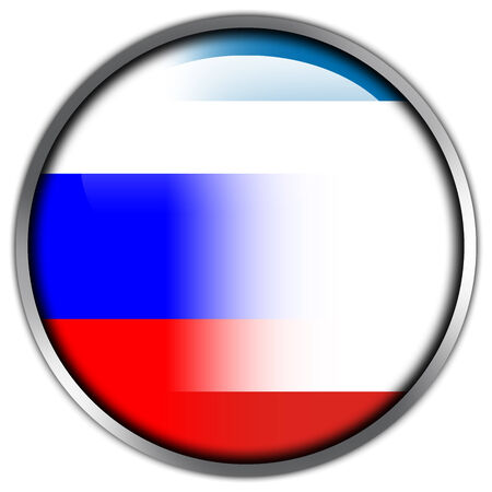 Autonomous Republic of Crimea and Russia Flag glossy button photo