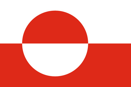 greenland: Greenland Flag Stock Photo
