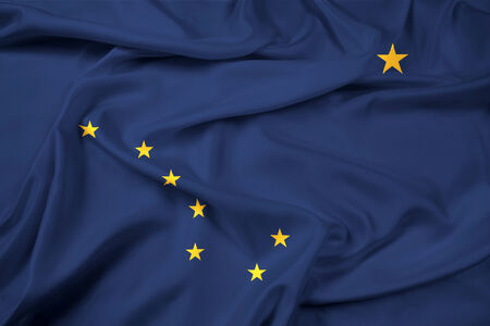 foreign country: Waving Alaska State Flag