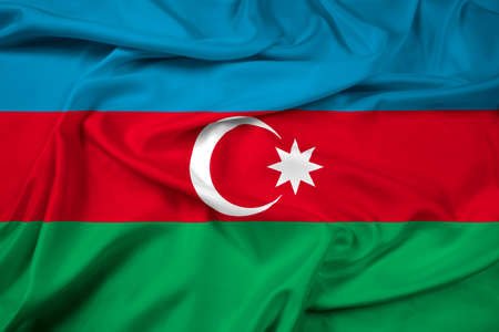 azerbaijan: Waving Azerbaijan Flag