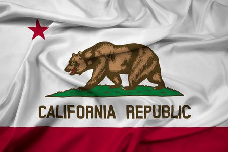 Waving California State Flag Stock Photo
