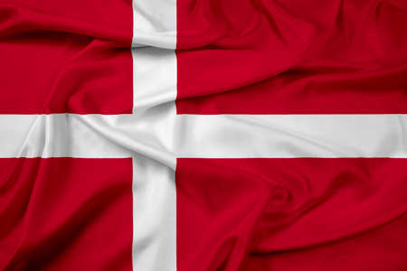 Waving Denmark Flag photo