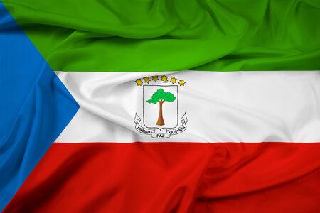 Waving Flag Guinea Ecuatorial