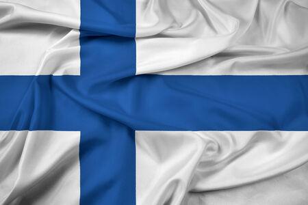 Winken Sie Finnland-Flagge