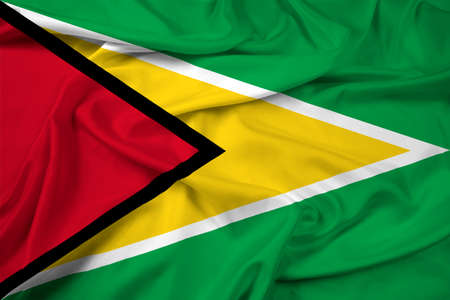 guyana: Waving Guyana Flag Stock Photo