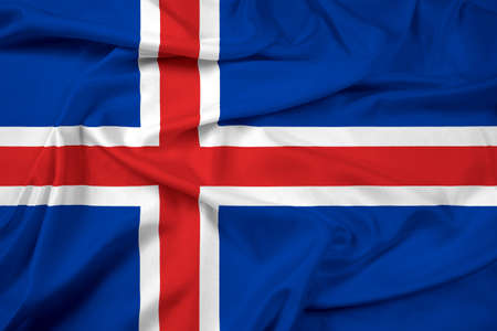 cotton velvet: Waving Iceland Flag
