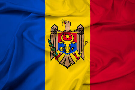 Waving Moldova Flag photo
