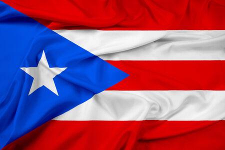 commonwealth: Waving Puerto Rico Flag