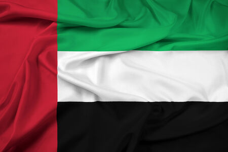pennon: Waving United Arab Emirates Flag Stock Photo