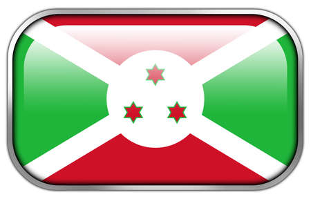 burundi: Burundi Flag rectangle glossy button