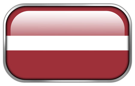 latvia flag: Latvia Flag rectangle glossy button