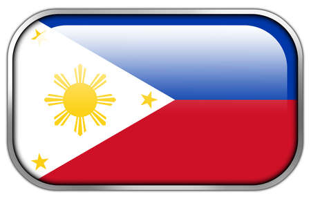 rectangle button: Philippines Flag rectangle glossy button Stock Photo