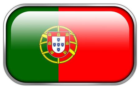 drapeau portugal: Drapeau du Portugal rectangle bouton brillant