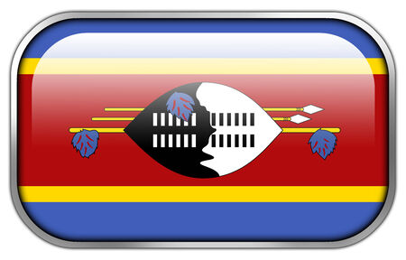 swaziland: Swaziland Flag rectangle glossy button