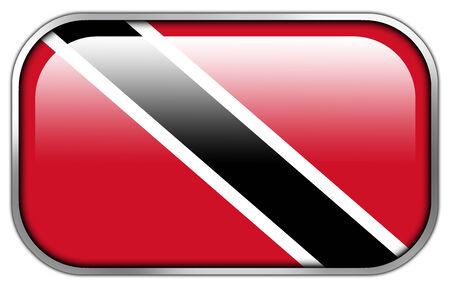 trinidad and tobago: Trinidad and Tobago Flag rectangle glossy button