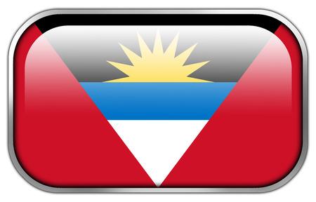 barbuda: Antigua and Barbuda Flag rectangle glossy button