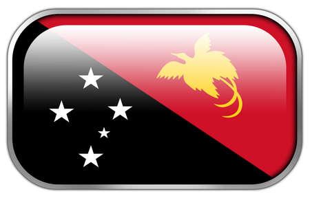 motu: Papua New Guinea Flag rectangle glossy button