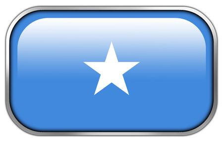 rectangle button: Somalia Flag rectangle glossy button