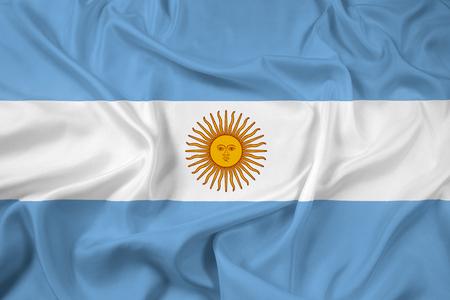 bandera argentina: Ondeando la bandera Argentina