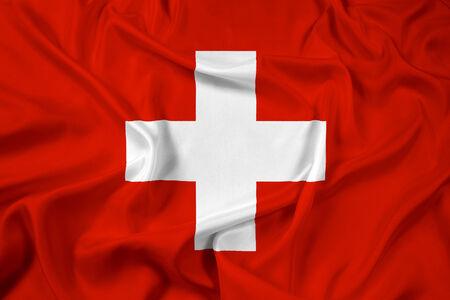 Waving Switzerland Flag photo