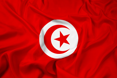 Waving Tunisia Flag photo