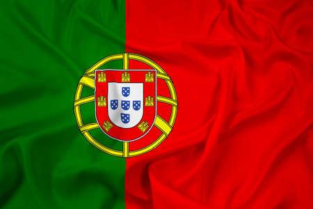 drapeau portugal: Waving Portugal Flag