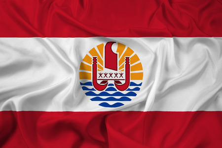 Waving French Polynesia Flag photo