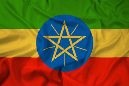 ethiopia flag: Waving Ethiopia Flag